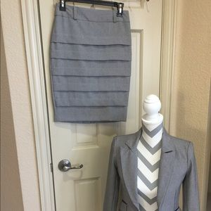 Two piece grey skirt with blazer from bcx